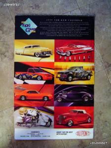 Vintage 1999 Top Gun Auto Car Calendar ~ Casher's New Haven DUPONT