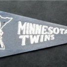 "Vintage Minnesota Twins Blue Felt Mini Baseball Pennant 9"" x 4"" Faded"