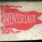 "Vintage Rensselaer University 1910 Leather Pennant Patch 2 1/2"" by 2"""