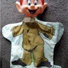 Vintage DOPEY 7 Dwarves Hand Puppet Walt Disney Prod