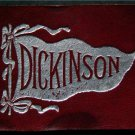 "Vintage Dickinson College 1910 Leather Maroon Pennant Patch 2 1/2"" by 2"""