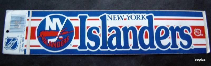 1989 New York Islanders NHL Hockey Bumper Sticker. Trench Mfg. Co