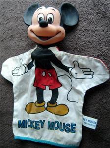 Vintage MICKEY MOUSE Hand Puppet Walt Disney Prod Japan