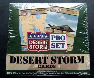 Pro Set Desert Storm Cards 36 Packs in Sealed Wax Box
