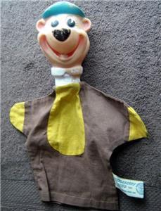 Vintage HUCKLEBERRY HOUND Hand Puppet Hanna Barbera 1961 Knickerbocker Toy Japan