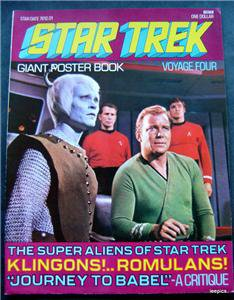 1976 Star Trek Giant Poster Book Voyage Four 4