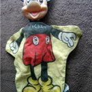 Vintage MICKEY MOUSE Hand Puppet Walt Disney Character Prod Yellow