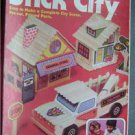 1981 STICK CITY by Pastime Popsicle Sticks Pre-cut City Scene Kit