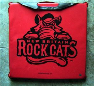 New Britain Rock Cats Minor League Baseball Defunct Team Red Seat Cushion 2011