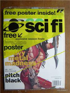 SCI FI MAGAZINE FEBUARY 2000 SEALED WITH FARSCAPE POSTER HEAVY METAL MADNESS