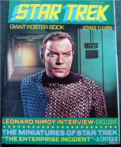 1977 Star Trek Giant Poster Book Voyage Eleven 11 Capt Kirk Cover