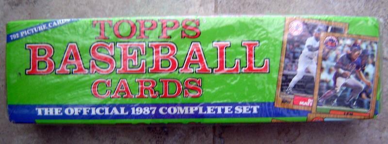 1987 Topps Baseball Card Factory Set Sealed Bonds Maddux RC 792 Cards