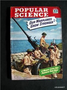Popular Science OCT 1942 WWII Planes Ships Navigators Big Bombs Mens Interest