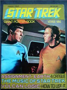 1977 Star Trek Giant Poster Book Voyage Nine 9 Spock Kirk Cover
