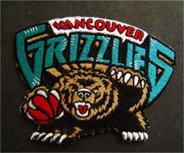 """Vancouver Grizzlies Basketball NBA Cloth Patch 3"""""""