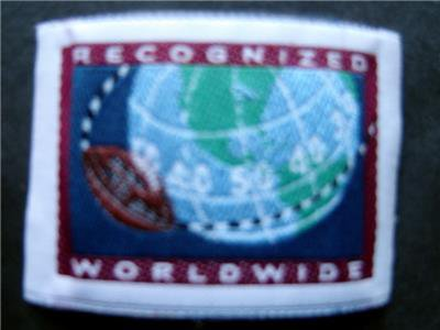 "RECOGNIZED WORLDWIDE Cloth  2""  NFL Football Label  PATCH"