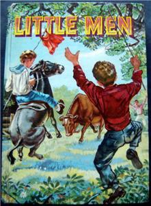 Little Men By Louisa May Alcott Book Whitman 1955 HC # 1614