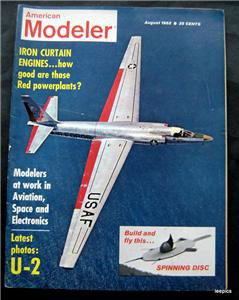 American Modeler Magazine August 1962 Planes Boats Cars Photos Plans