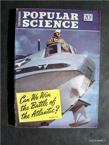 Popular Science DEC 1942 WWII Planes Ships Navigators Air Commando Mens Interest