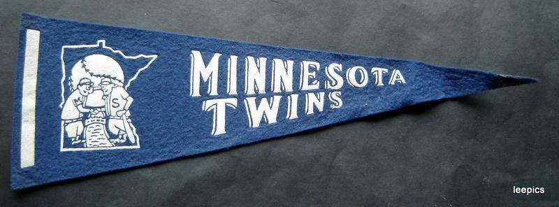 """Vintage Minnesota Twins Baseball Mini Pennant 13 3/4"""" x 4 1/2"""""""