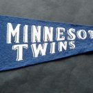 "Vintage Minnesota Twins Baseball Mini Pennant 13 3/4"" x 4 1/2"""