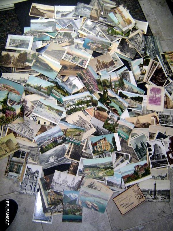 Early Lot approx (400) Vintage Postcards mosty Europe unused/used 1907-1930s