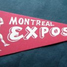 "Vintage Montreal Expos Red Mini Baseball Pennant 8 1/2"" x 4"" Old Logo"