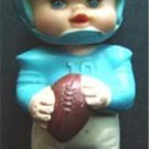 Vintage 1971 Iwai Industrial Rubber Squeaker Blue and White Football 6""