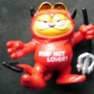 "Garfield Cat Devil Costume Red Hot Lover 2"" Tall Hard Plastic Figure"