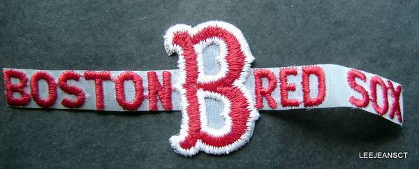 "Boston Red Sox Baseball Die Cut Name ""B"" Patch 6 1/4"""