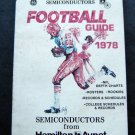 1978 Football Guide Booklet NFL & College Records Schedules Rosters Charts