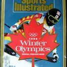 Sports Illustrated Magazine Jan 27, 1988 Winter Olympics Special Preview Issue