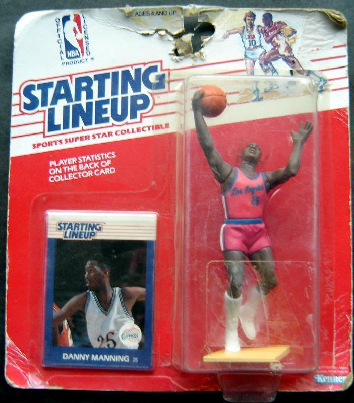 Starting Lineup SLU Danny Manning 198 LA Clippers Basketball Figure & Card