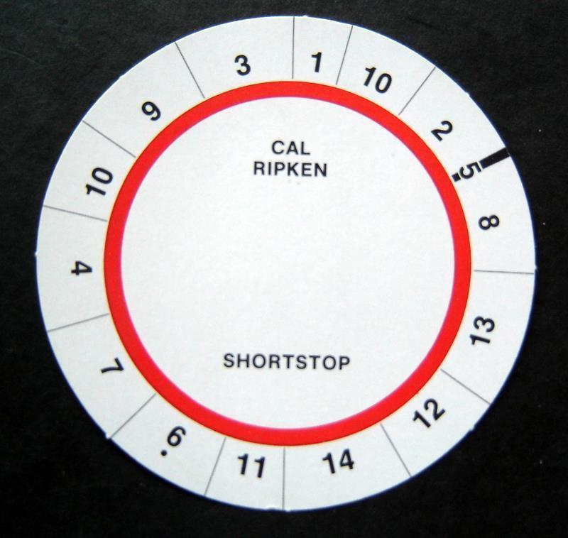Cadaco All-Star Baseball Game Disk Cal Ripken Shortstop