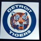 "Vintage Detroit Tigers Color Logo Baseball Decal 3 1/2"" Sq Rapco Decalcomania"