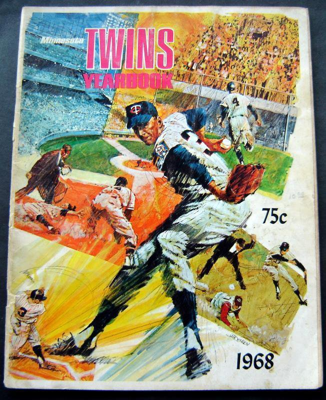 1968 Minnesota Twins Baseball Yearbook Killebrew Carew Kaat Oliva