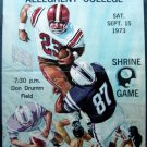 Football Program Marietta vs Allegheny College Shrine Game Sept 15 1973