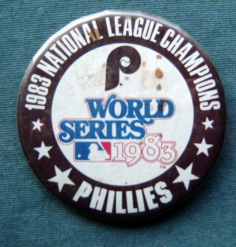 "Philadelphia Phillies 1983 National League Champs PIN 3 1/2"" World Series"