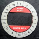 Cadaco All-Star Baseball Game Disk Mickey Mantle Center Field