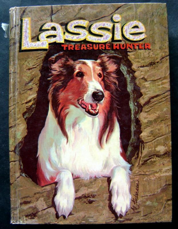 Lassie Treasure Hunter Book Whitman 1960 TV Edition HC #1552