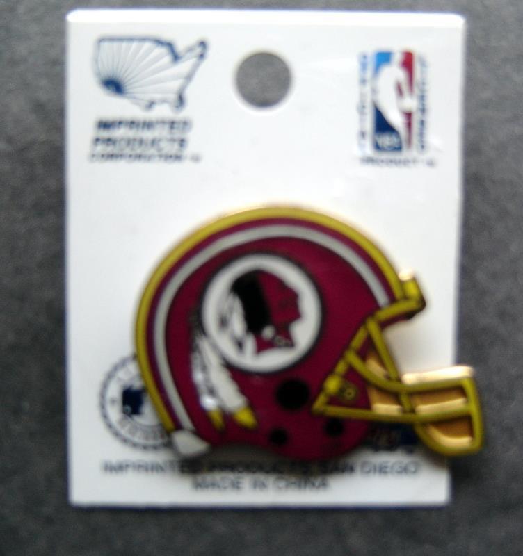"1996 Washington Redskins NFL Football Helmet Metal Lapel Pin 1 1/4"" Tack Back"