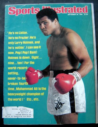 Muhammad Ali Cassius Clay Boxing Cover Sports Illustrated Sept 29, 1980
