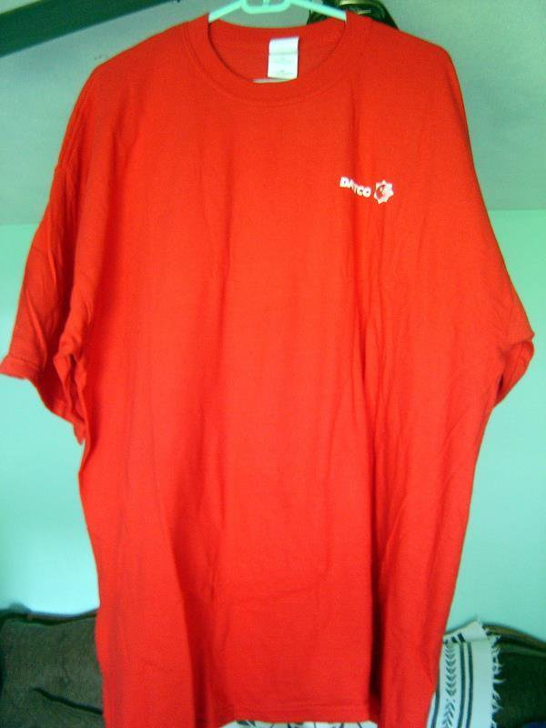Vintage Dattco Bus Company Red Tee T Shirt Size XX Large Unisex Unused