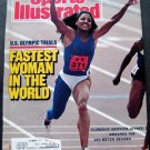 Sports Illustrated Magazine July 25 1988 Olympic Trials Florence Joyner Cover