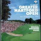 Canon Greater Hartford Open GHO Golf Official Tournament Guide 1992