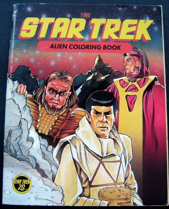 Star Trek ALIEN Coloring Book 1986 Wanderer Books 30 Pages Mostly Uncolored