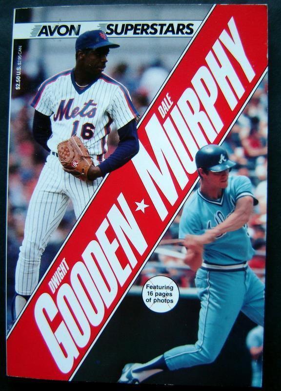 1986 Dwight Gooden & Dale Murphy Baseball Avon Superstars Book