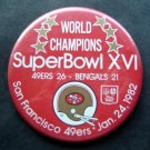 World Champions Super Bowl XVI 16 Football PIN Jan 24 1982 49ers vs Bengals