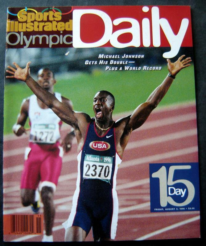 1996 Atlanta Olympics Daily SPORTS ILLUSTRATED Day # 15 Michael Johnson Cover