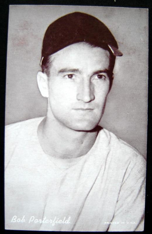 1947-1966 Arcade Exhibit Card Baseball Bob Porterfield